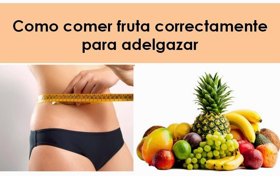 Adelgazar rapido comiendo fruta